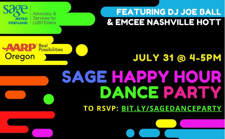Sage Happy Hour Dance Party Flyer (details in text)