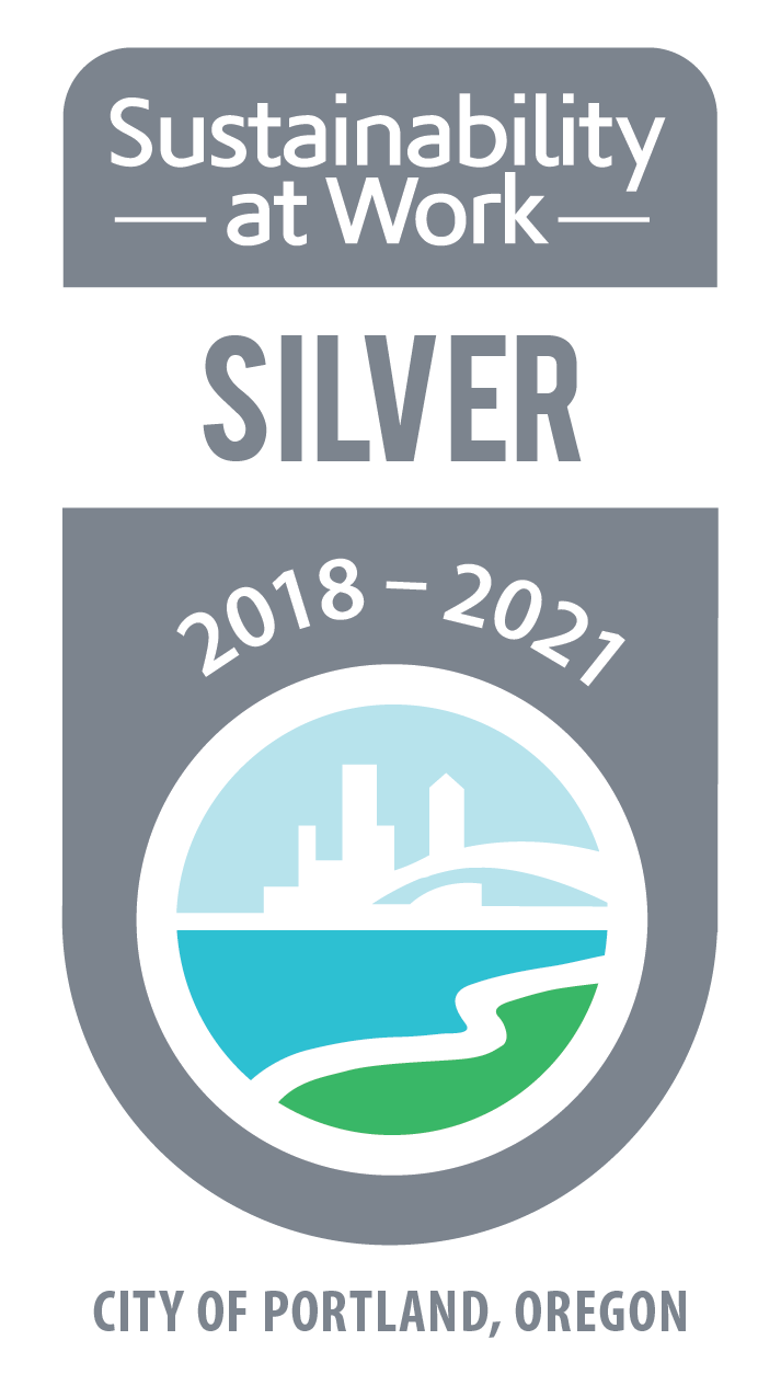City of Portland Sustainability at Work Silver Ceritifcation Badge 2018–2021