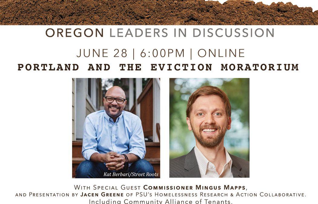 Community Conversation – Portland and the Eviction Moratorium (online)